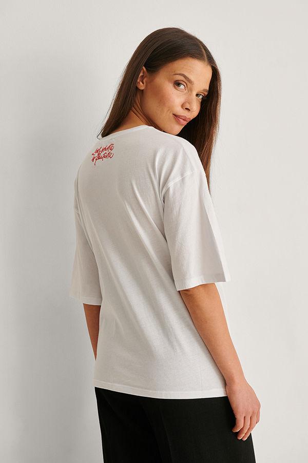 Trendyol Ekologisk Oversize T-shirt vit