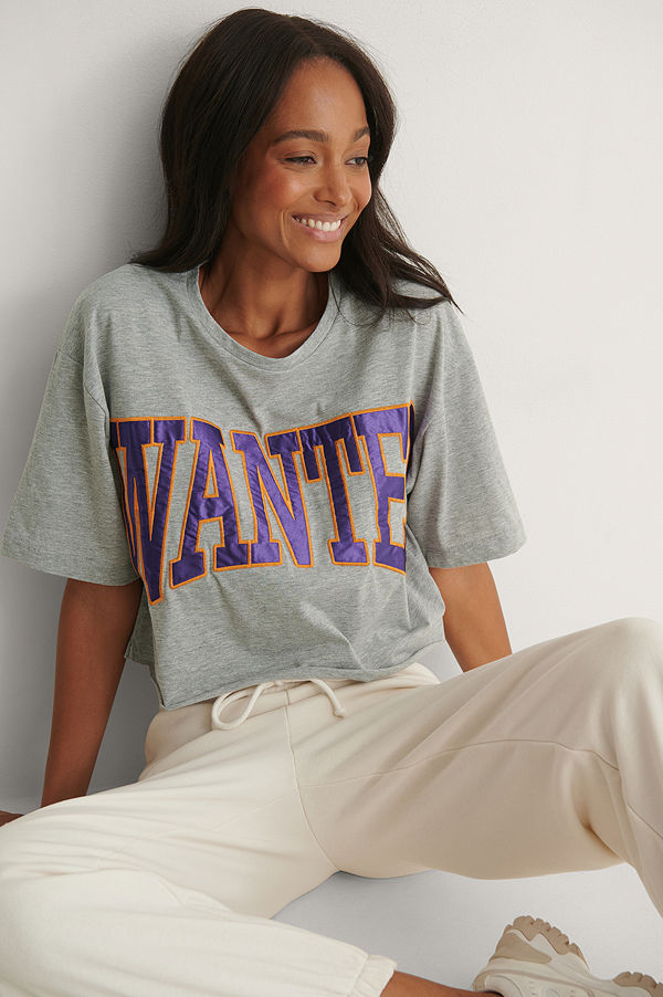 Trendyol T-Shirt Med Logga grå