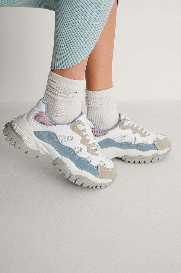 NA-KD Shoes Chunky Color Pop Trekking Sneakers multicolor