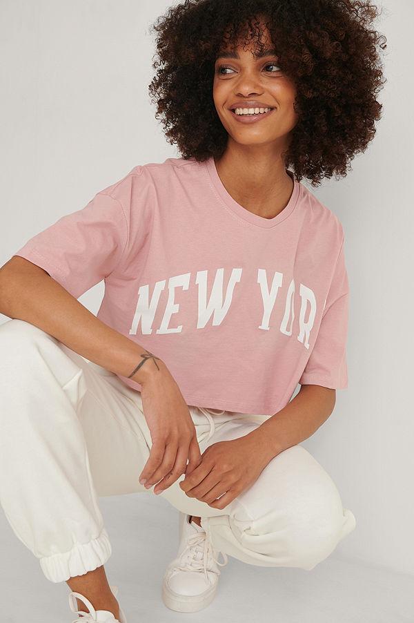 Trendyol Tryckt T-shirt rosa