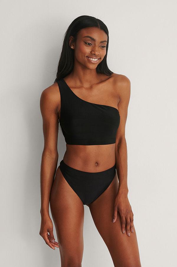NA-KD Swimwear Recycled Bikinitrosa Med Hög Midja svart