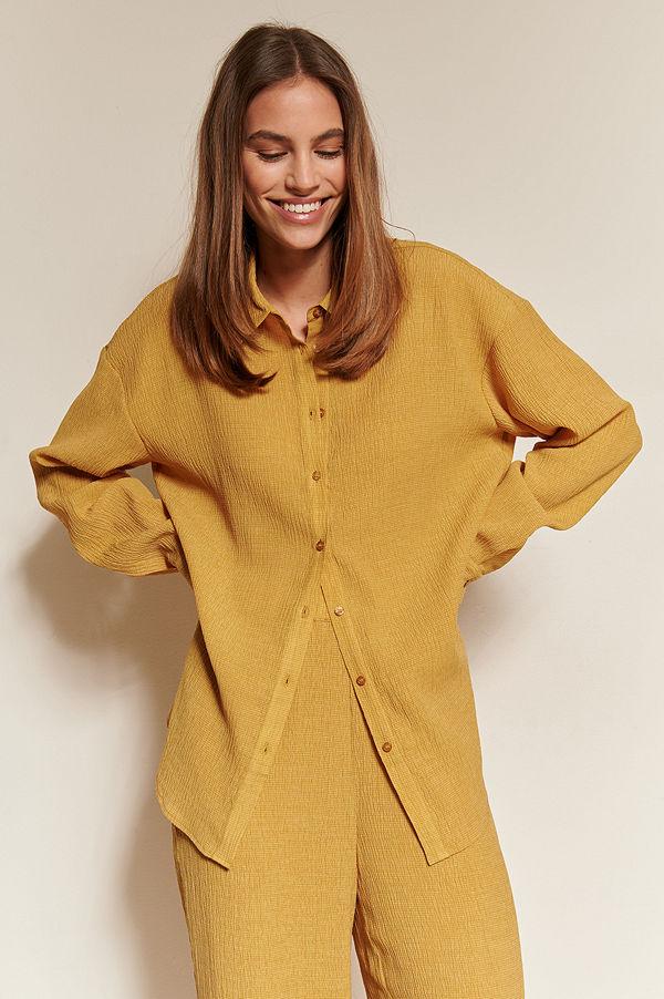 NA-KD Classic Strukturerad Skjorta gul