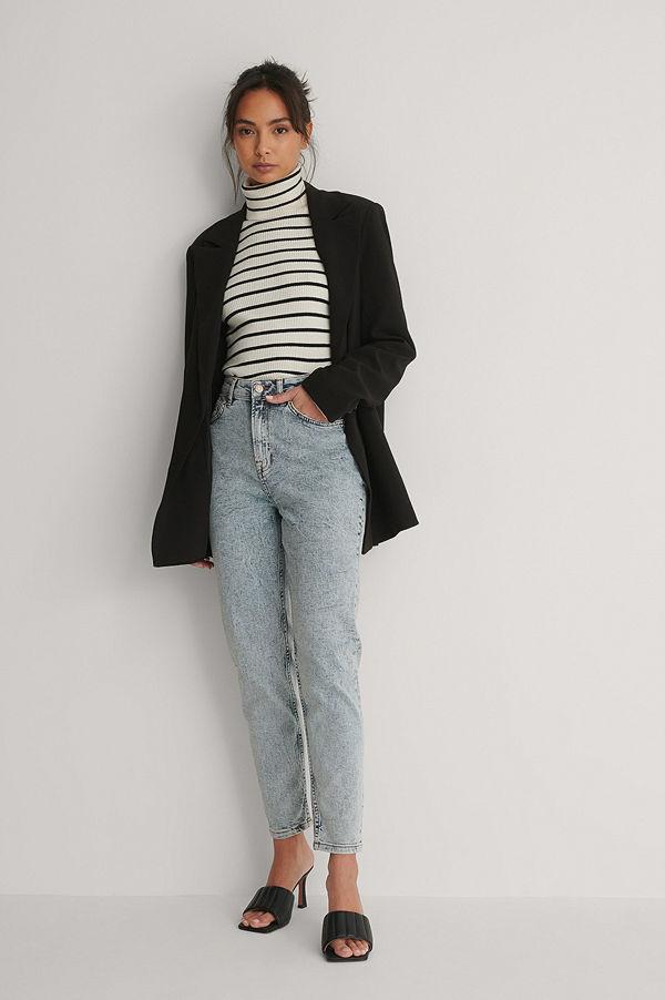 NA-KD Ekologiska Mom-jeans blå