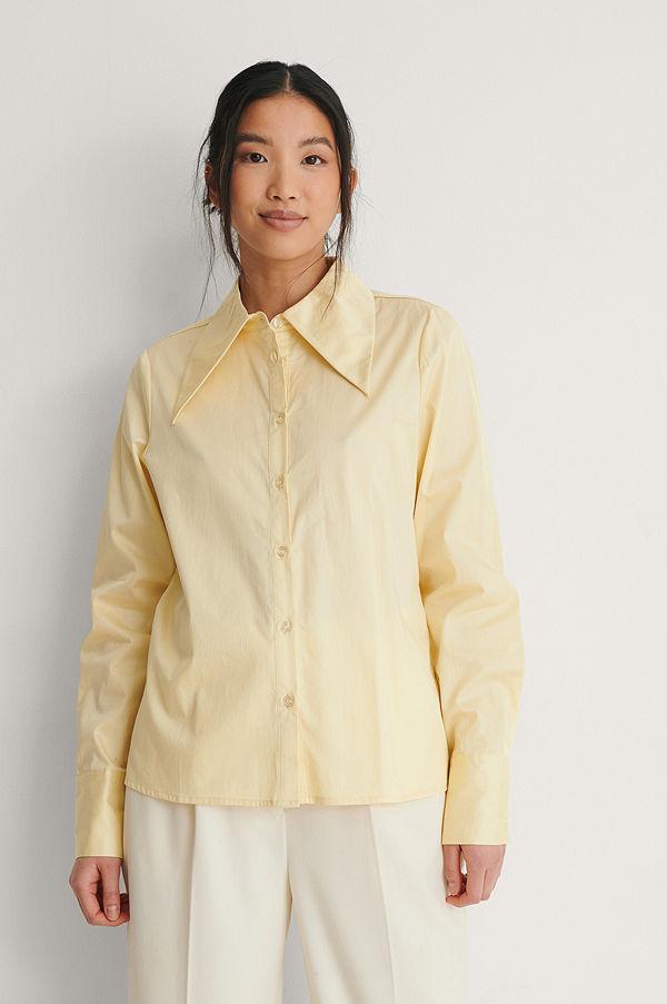 NA-KD Trend Ekologisk Skjorta gul
