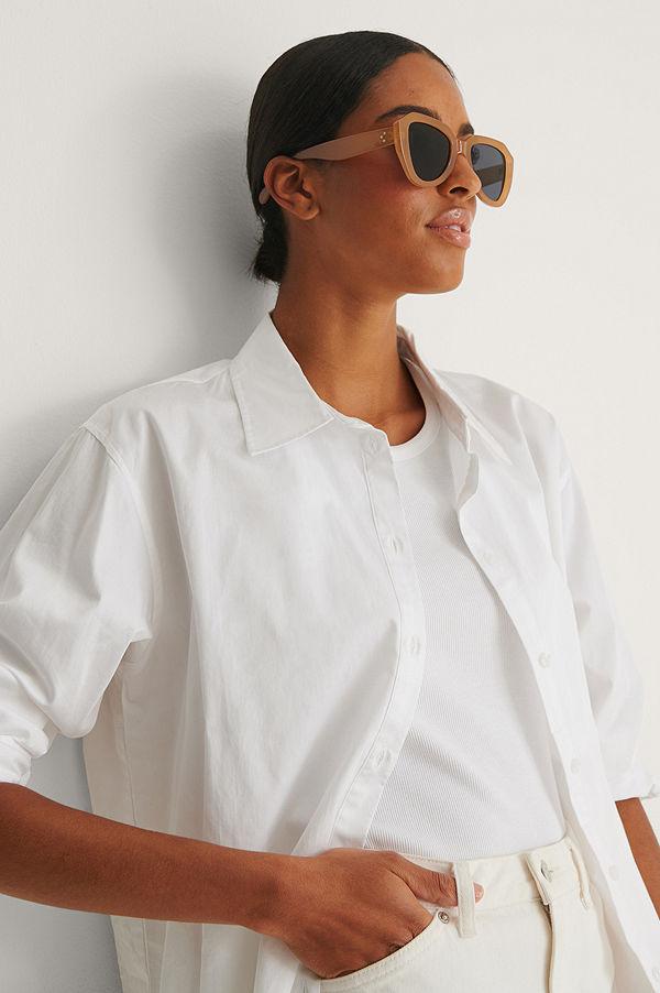 NA-KD Accessories Solglasögon beige