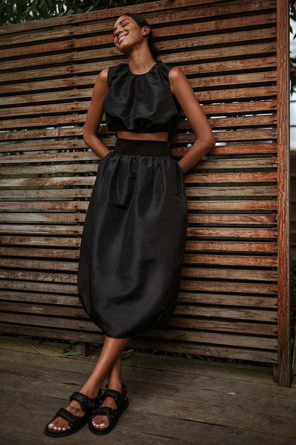 NA-KD Trend Maxikjol svart