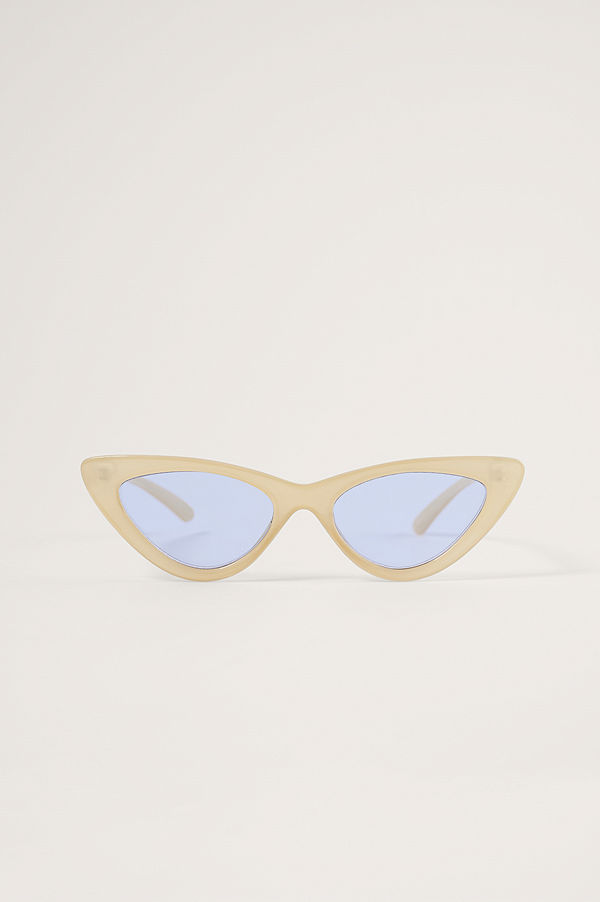 NA-KD Accessories Cateye-Solglasögon gul