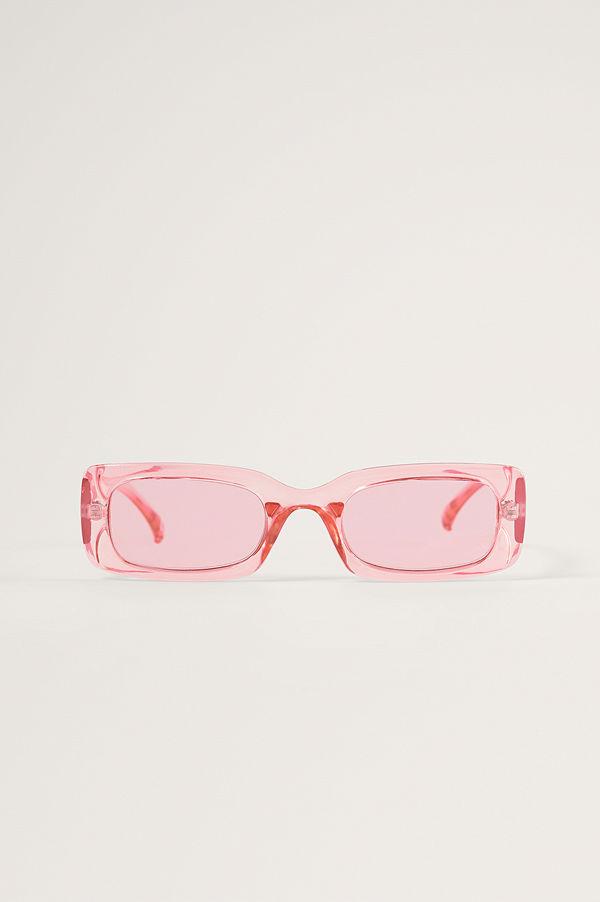 NA-KD Accessories Breda Solglasögon I Retrolook rosa