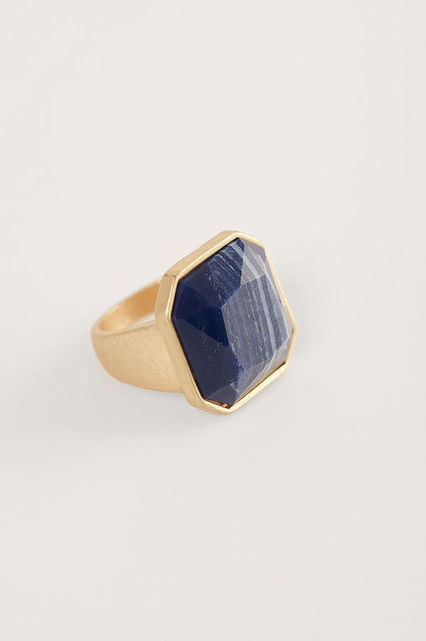 NA-KD Accessories smycke Signetring Med Stor Sten guld