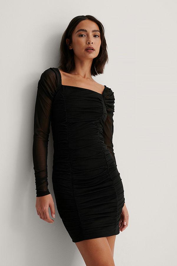 NA-KD Party Meshklänning svart
