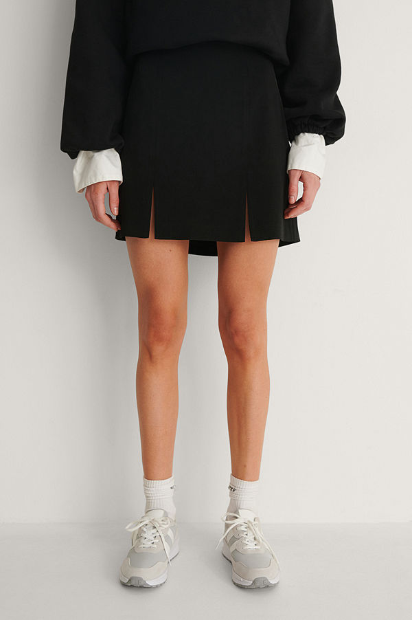 NA-KD Trend Recycled Minikjol Med Slits svart