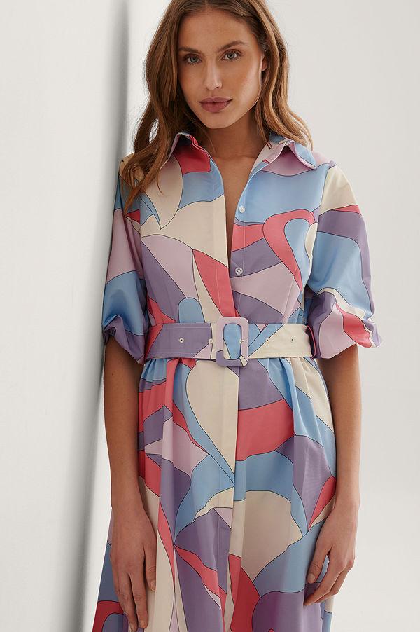 NA-KD Trend smycke Långärmad Maxiklänning multicolor