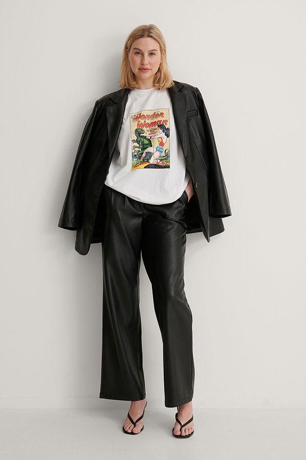 Warner Bros. Ekologisk Wonder Woman Oversized T-shirt vit