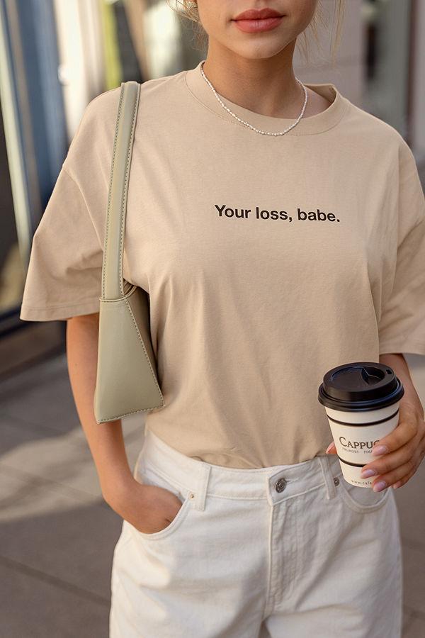 NA-KD Trend Ekologisk Ekologisk T-shirt Med Tryck beige