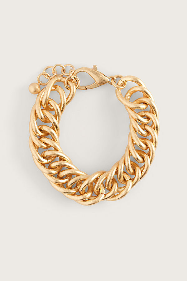 NA-KD Accessories smycke Messy Chain Armband guld