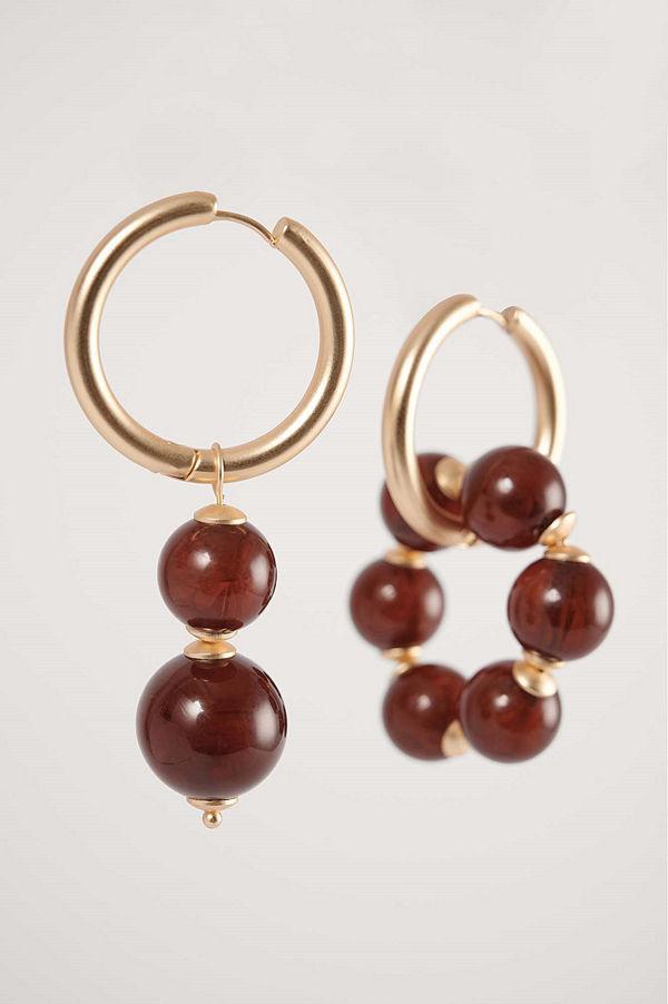 NA-KD Accessories smycke Örhängen brun