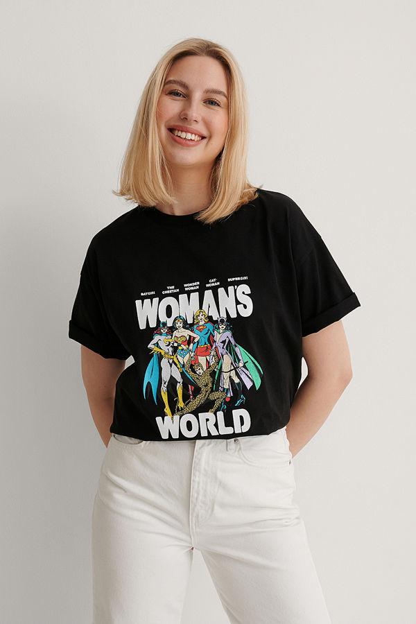 Warner Bros. Ekologisk Wonder Woman Oversized T-shirt svart