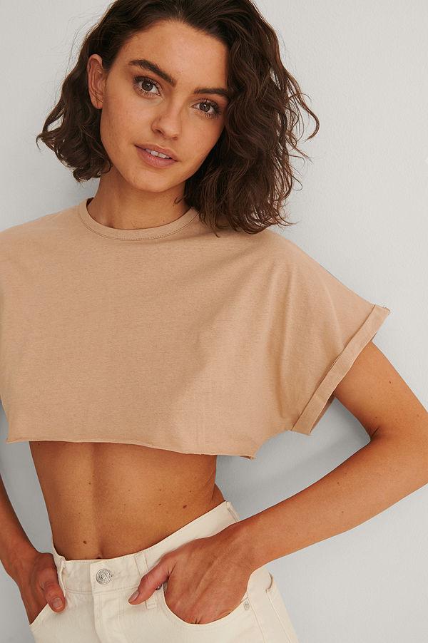 Trendyol Croppad T-Shirt brun