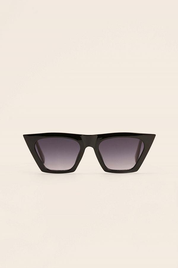 NA-KD Accessories Återvunna Kattögonformade Solglasögon Med Vass Fyrkantig Båge svart