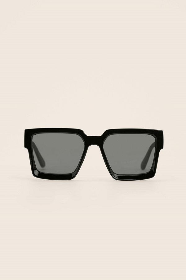 NA-KD Accessories Recycled Fyrkantiga Solglasögon svart