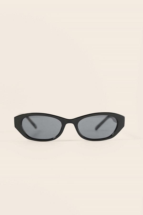 NA-KD Accessories Breda Droppformade Retrosolglasögon svart