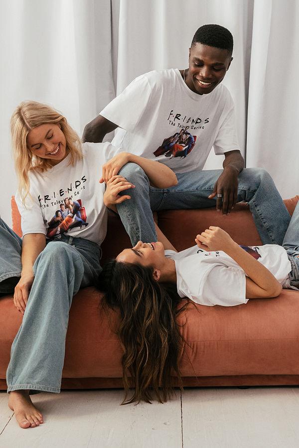 Warner Bros. Ekologisk Unisex T-shirt Med FRIENDS-tryck vit