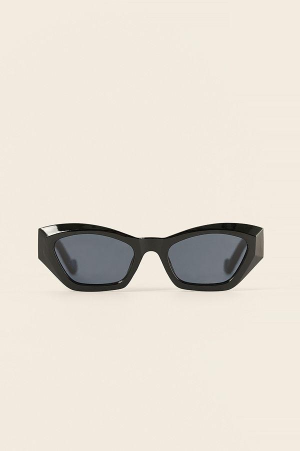 NA-KD Accessories Rundade Cateye-Solglasögon svart