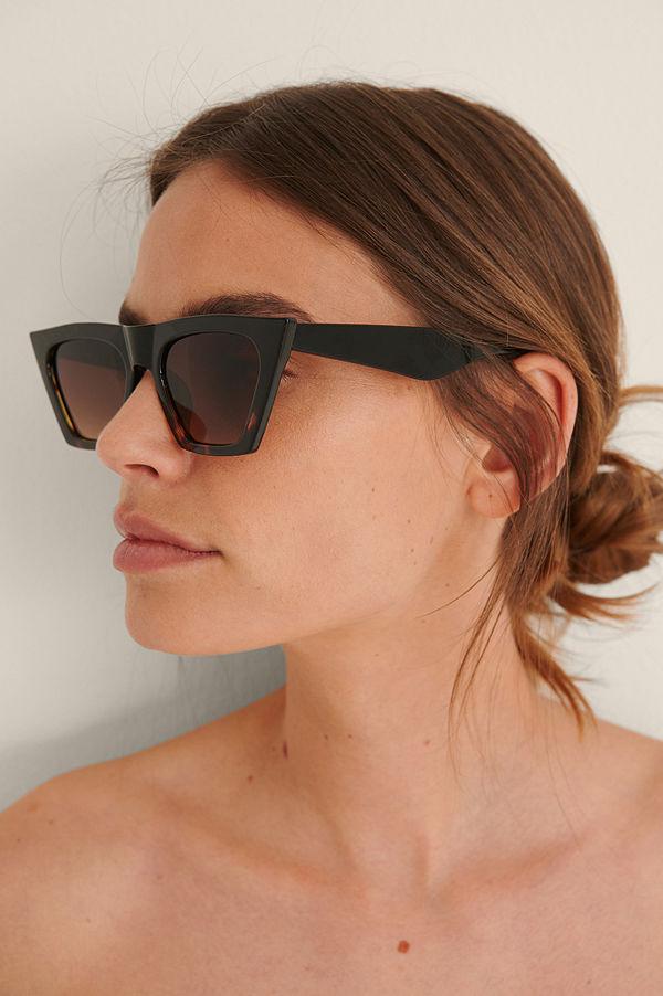 NA-KD Accessories Solglasögon Med Stor Ram svart