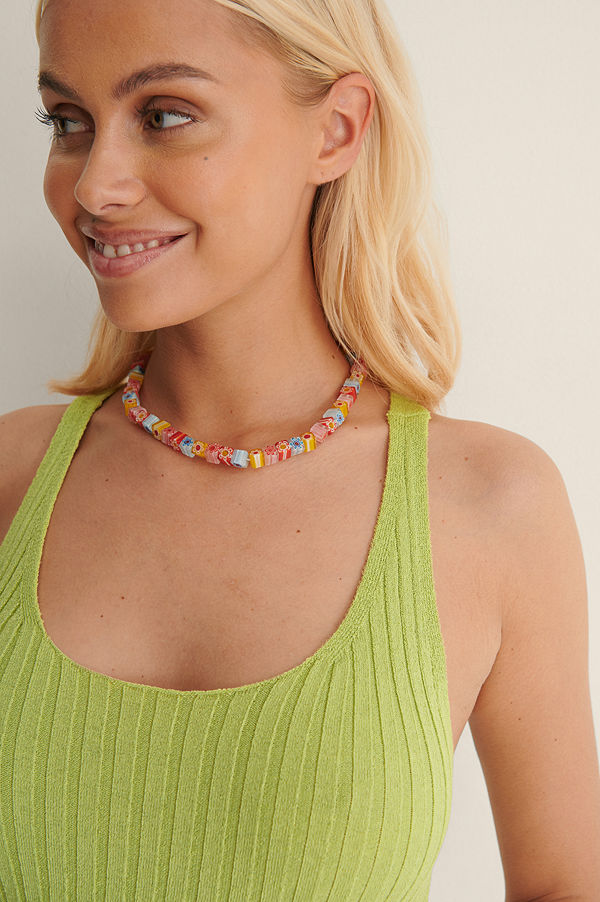 Mango smycke Pärlhalsband multicolor