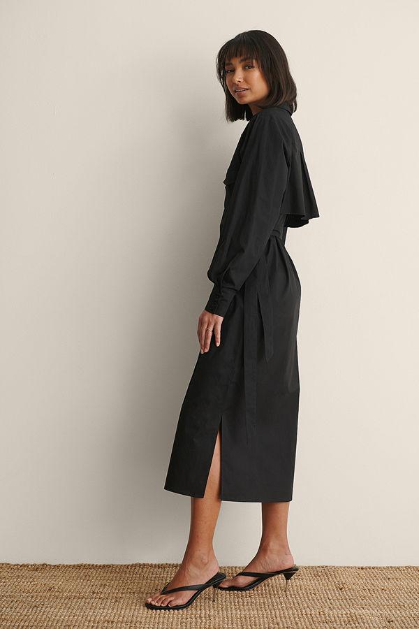 Claire Rose x NA-KD Skjortklänning Med Fickdetalj svart
