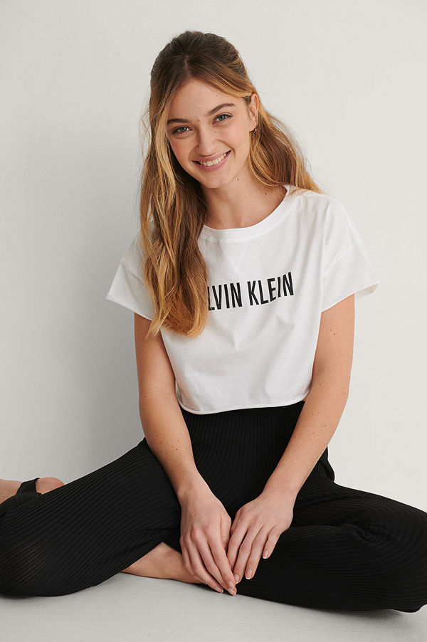 Calvin Klein Croppad Topp vit