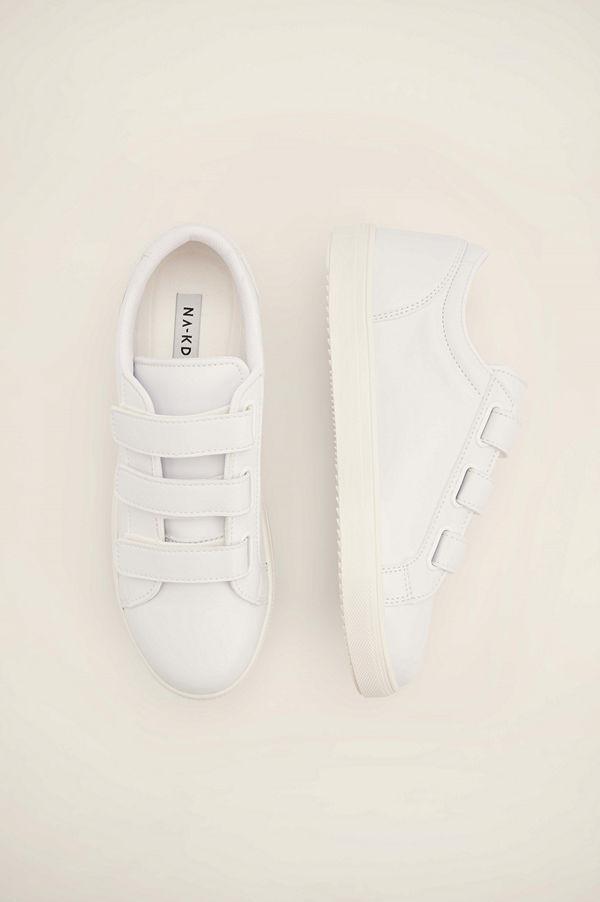 NA-KD Shoes Basgympaskor vit