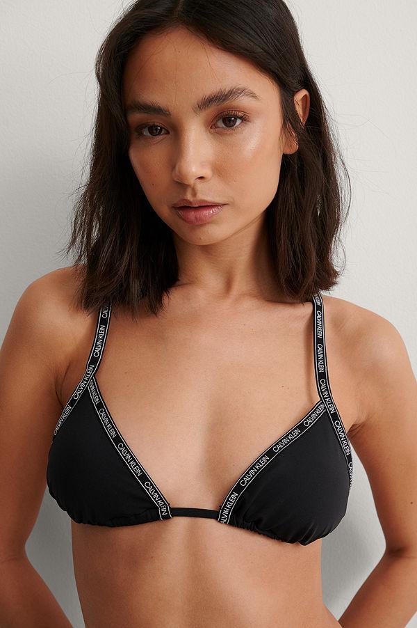 Calvin Klein Bikini-Topp Med Logga svart