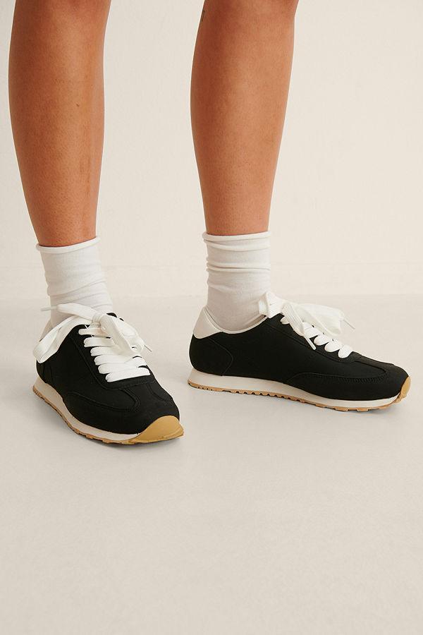 NA-KD Shoes Bas Retro Sneakers svart