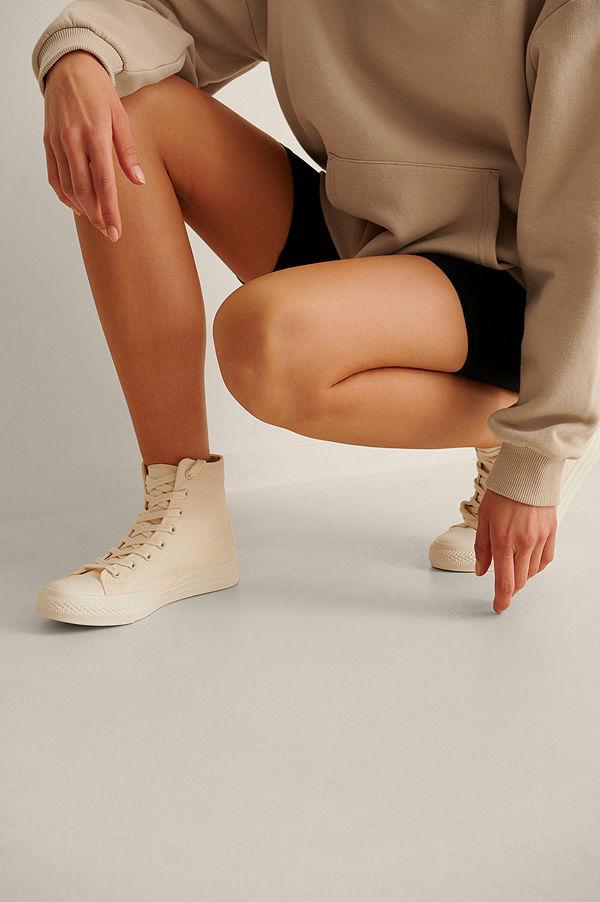 NA-KD Shoes Träningsskor Med Hög Snörning offvit