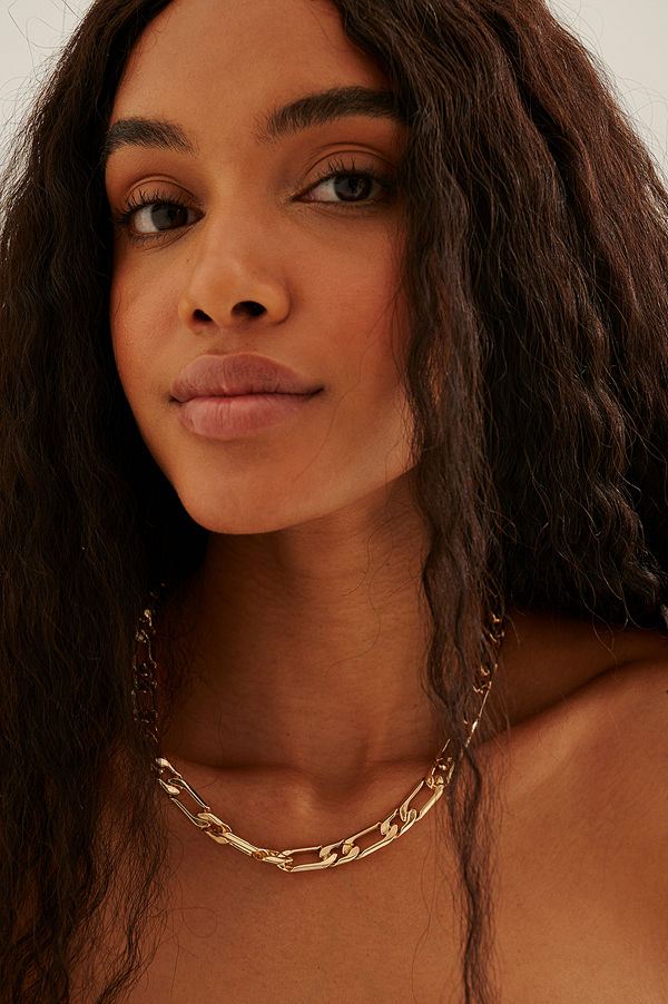 NA-KD Accessories smycke Återvunnet Halsband Med Figarokedja guld