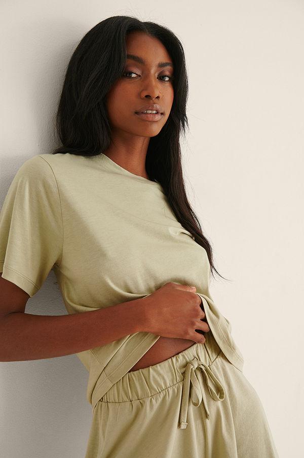 NA-KD Lingerie Soft Comfort Oversize T-Shirt grön