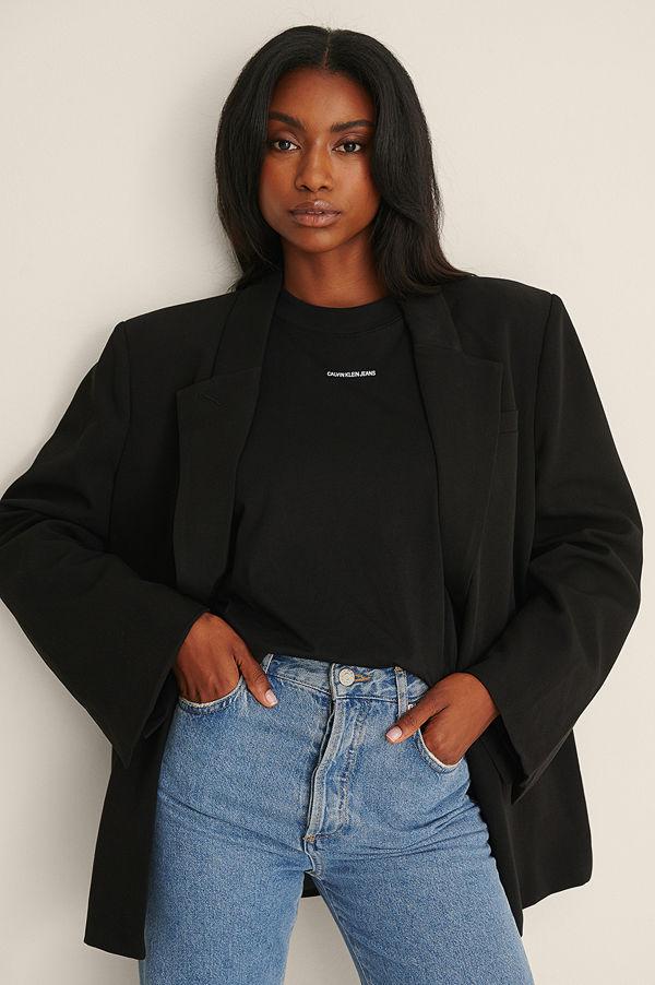 Calvin Klein Micro Branding Loose Tee svart