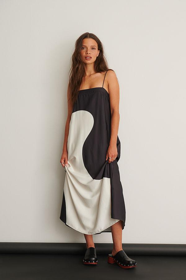 NA-KD Trend Color Block Midi Dress multicolor