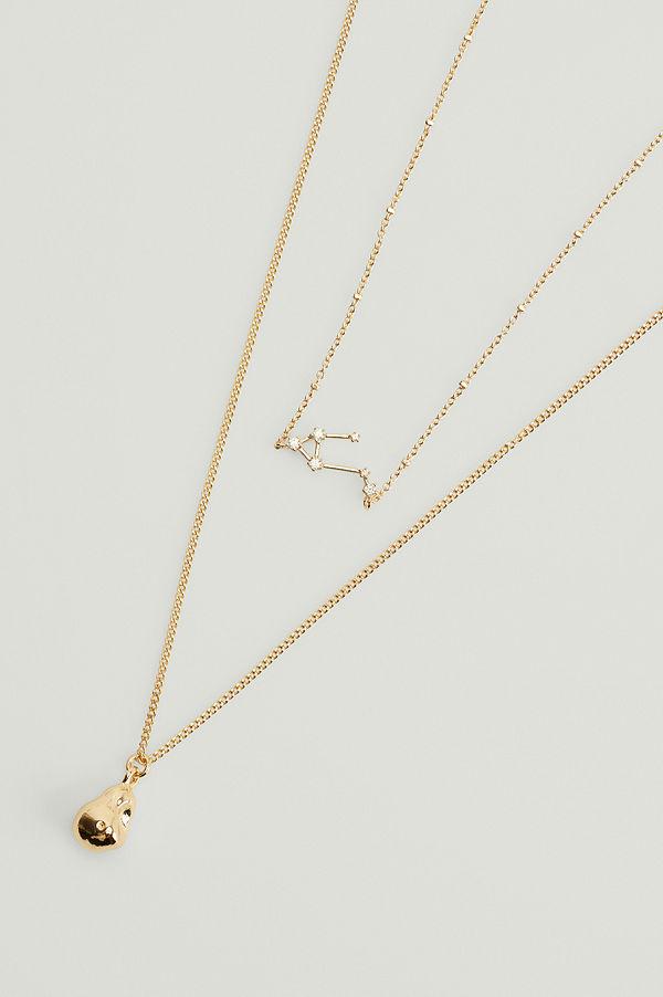 NA-KD Accessories smycke Återvunnet halsband med stjärntecken guld