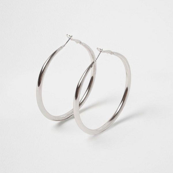 River Island örhängen Silver tone hoop earrings