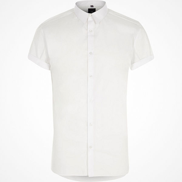 River Island White Big and Tall short sleeve shirt