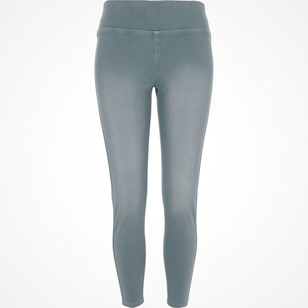 River Island Light Blue denim look leggings