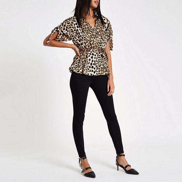 River Island Black Rl Amelie mid rise skinny jeans