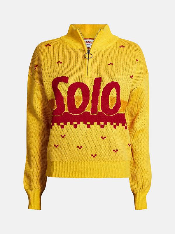 SOLO Solo tröja - Mörkgul