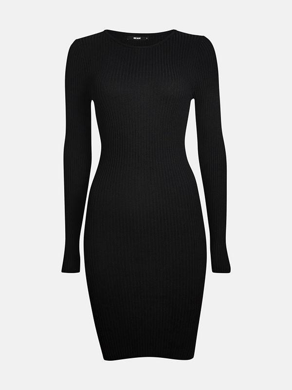 Bik Bok Bobbo rib-knit dress - Svart