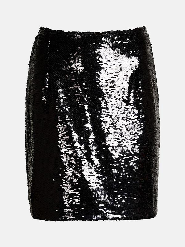 Bik Bok Pelle sequin skirt  - Svart