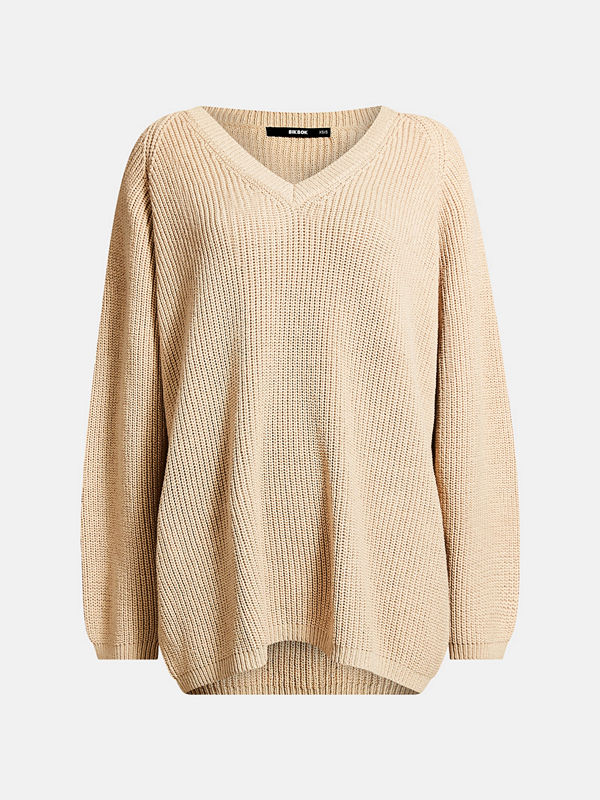 Bik Bok Willia knitted jumper - Ljusbeige