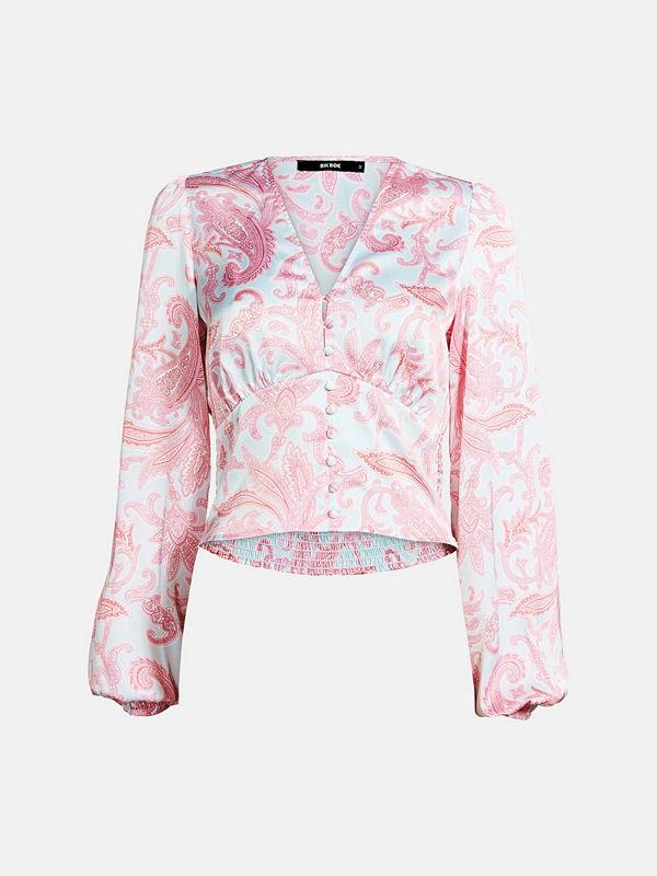 Bik Bok Chain satin blouse - Multi
