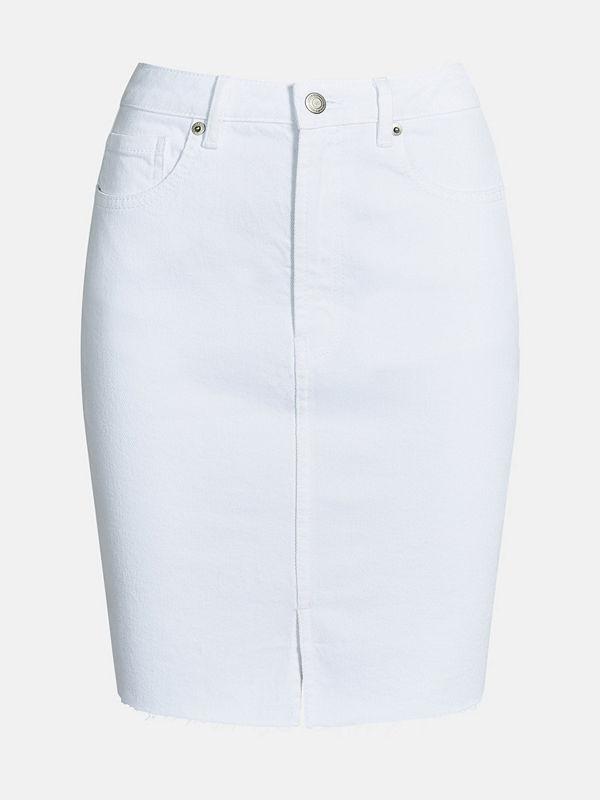 Bik Bok Rachel White denim skirt  - Vit